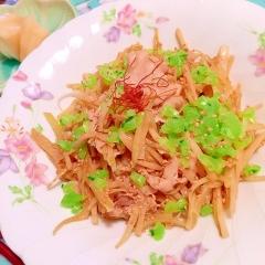 漬け汁リサイクル!豚肉と大根皮の味噌ヨーグルト炒め