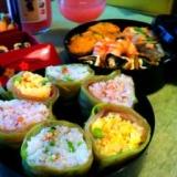 しゃきしゃきレタスの三色巻き寿司