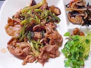 豚肉とセリの甘辛炒め