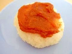 オーブントースターで焼きおにぎり(味噌味)♪