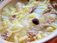 たっぷり白菜 ごま油と塩だけの鍋!