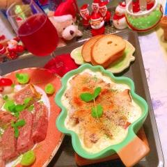 ポテトとエリンギの簡単クリームスープグラタン