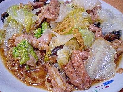 「鶏せせりと蓮根、レタスの炒め物」 ♪♪ レシピ・作り方 by ひろりん1106|楽天レシピ