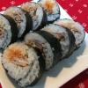 ラップで簡単!豚小間マヨの巻き寿司