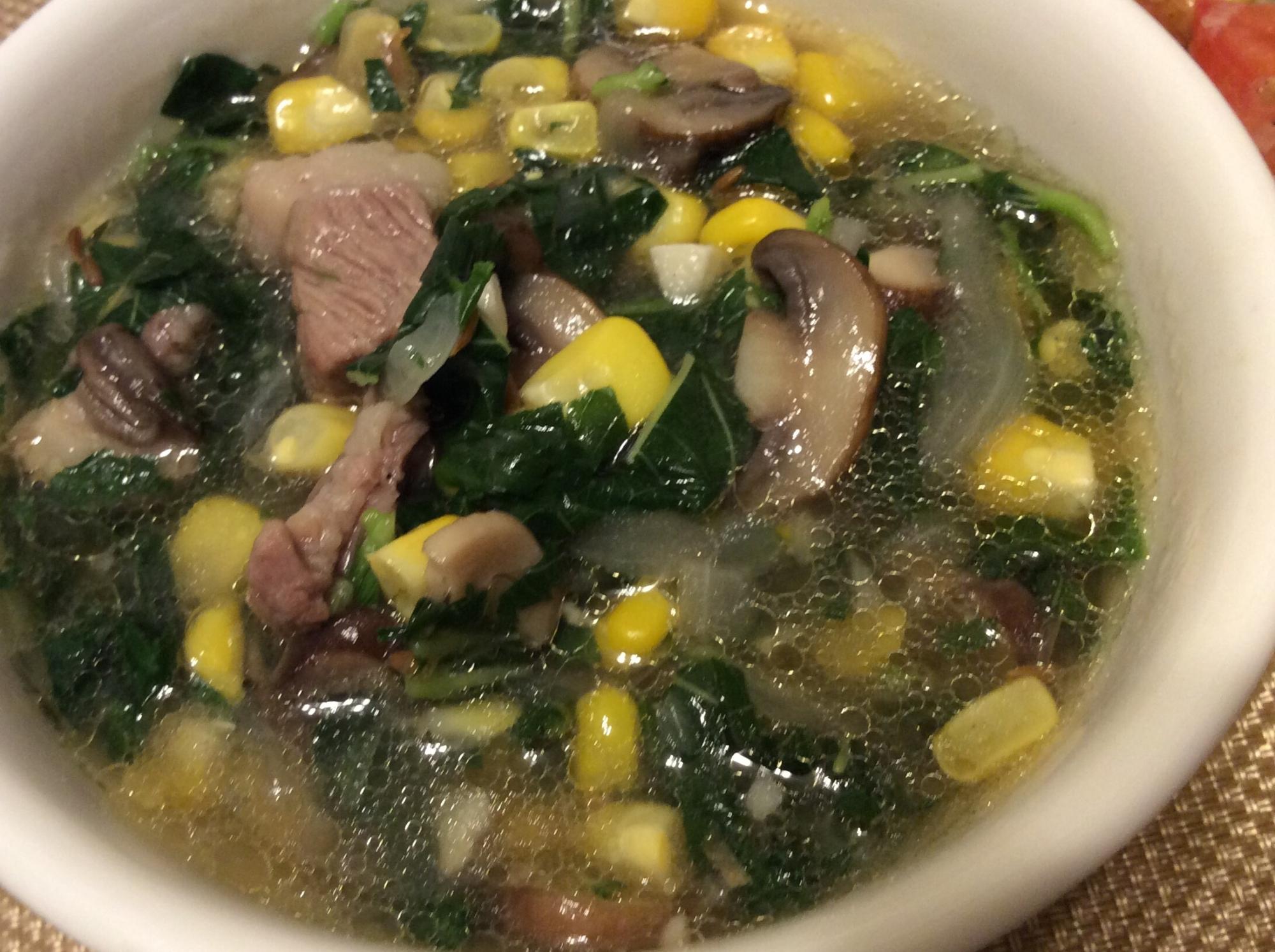 夏バテ知らず!ラム肉とモロヘイヤのトロトロ~スープ