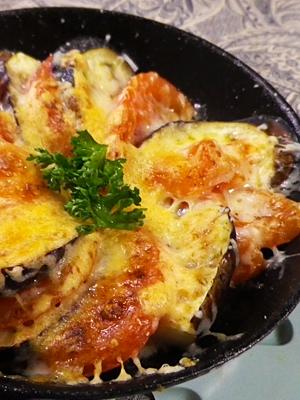 茄子トマトのパルメザンチーズ焼き