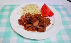 成型肉でもおいしくできる、牛のサイコロステーキ♪ 料理名:サイコロステーキ 作者:ponta63