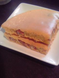 金時豆の甘味を楽しむ♪金時豆のパンケーキ