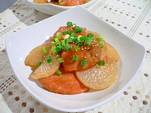 鮭と大根の炒り煮