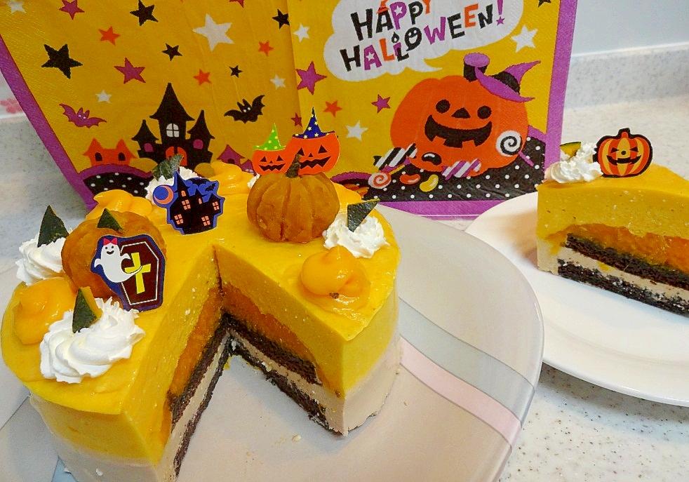 コーヒー香るかぼちゃのムースケーキ