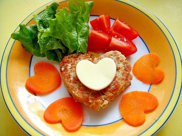 ワンコ用 バレンタインポテト野菜ハンバーグ