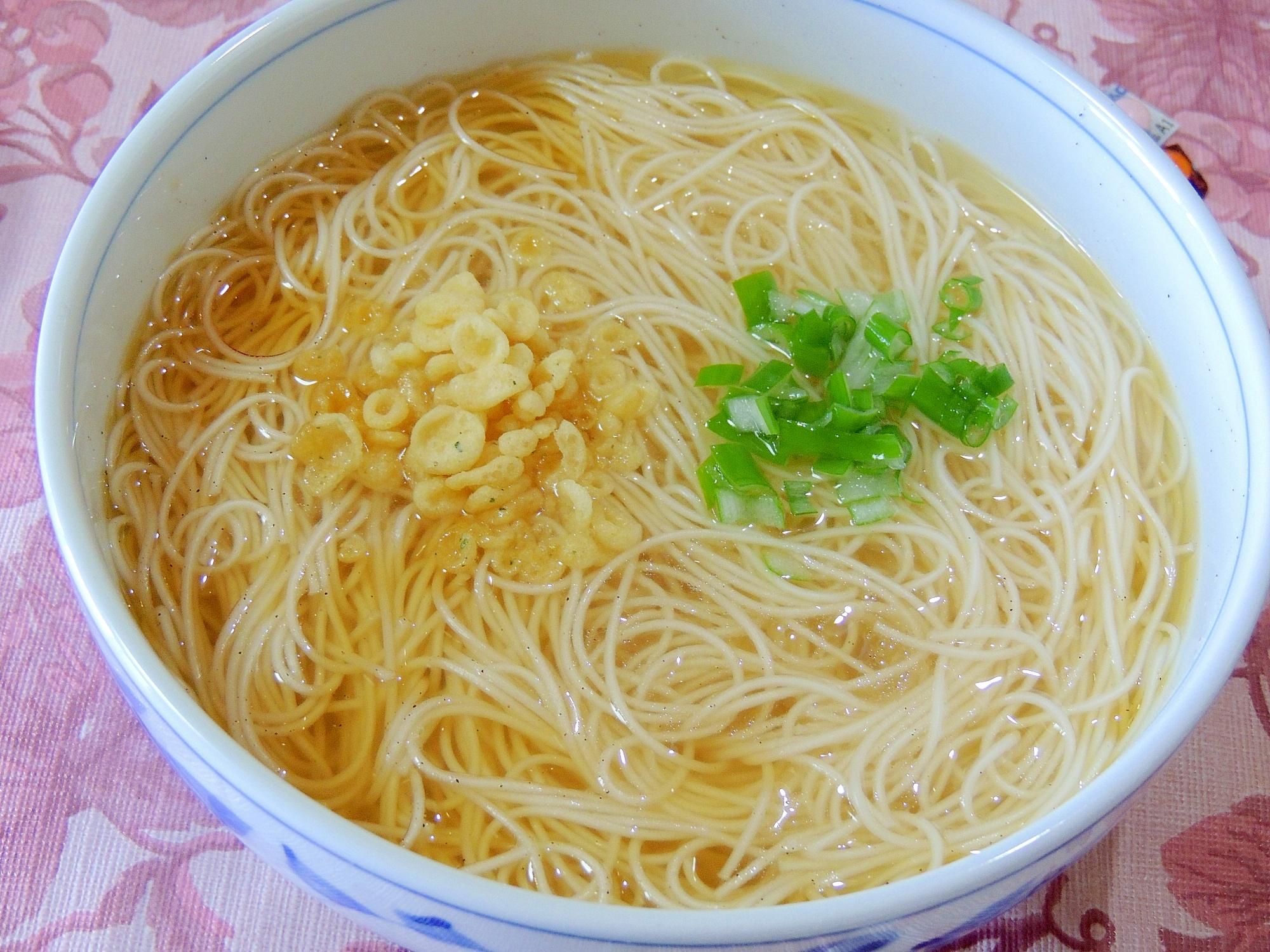 そうめん?乾麺の素麺で中華そば風そうめん レシピ・作り方 by やまさ|楽天レシピ