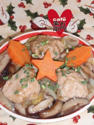 中華風クリスマス?白菜と肉団子のオイスター中華煮