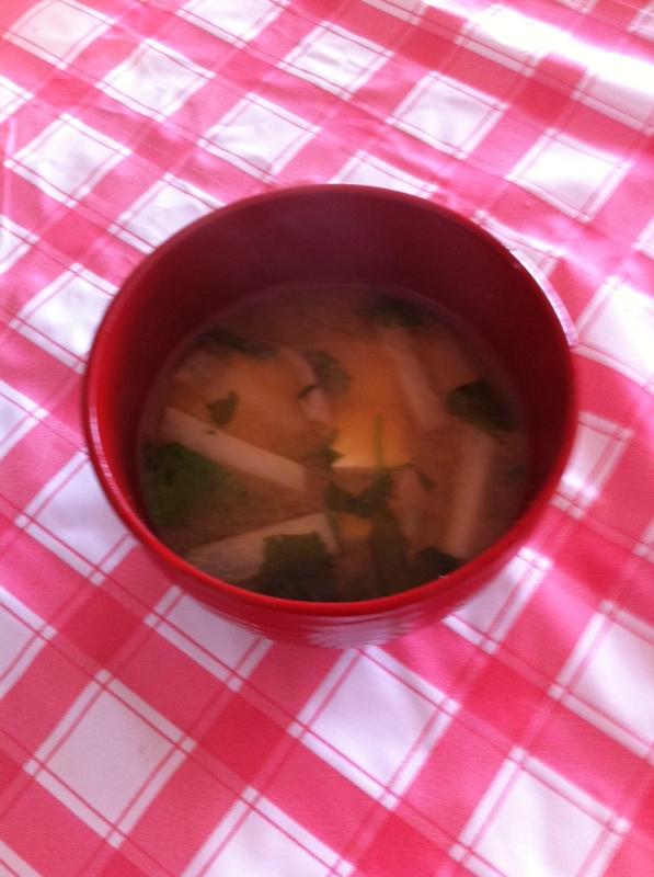 ヘルシー★三つ葉&高野豆腐&大根のみそ汁