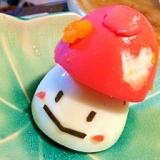 可愛いモモコドモダケのゆで卵