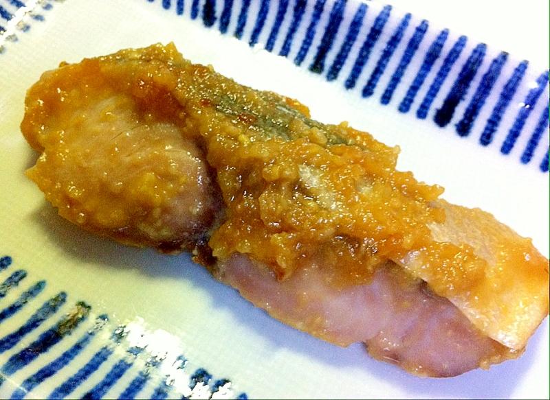 ハマチの味噌生姜漬け焼き