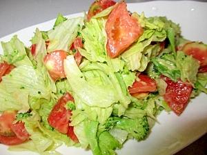 レタス・トマト・ブロッコリーのアボカドあえサラダ