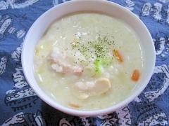 鶏肉と白菜のミルク雑炊