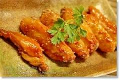 手羽中の中華風ピリ辛焼き