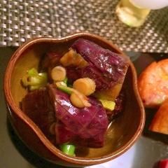 レンチン茄子の韓国風コチュジャン和え