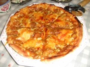 我が家流 カレーピザ!