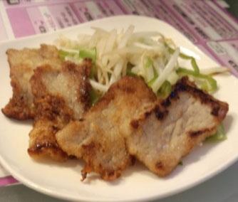 豚薄切り肉の唐揚げ