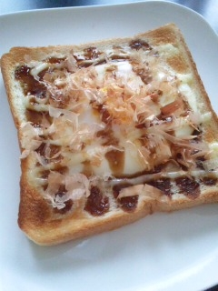 レンジ&トースターで☆お好み焼き風トースト