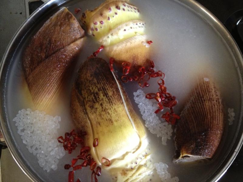 筍  茹で方(あく抜き) 米ぬか無し