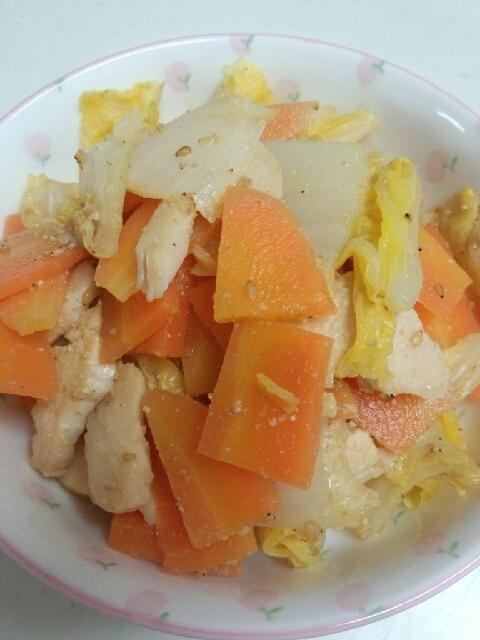 副菜に。白菜とハムのゴマぽん酢和え