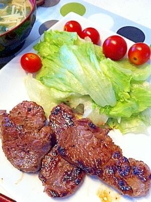 塩麹で☆ 牛ヒレ肉のステーキ♪