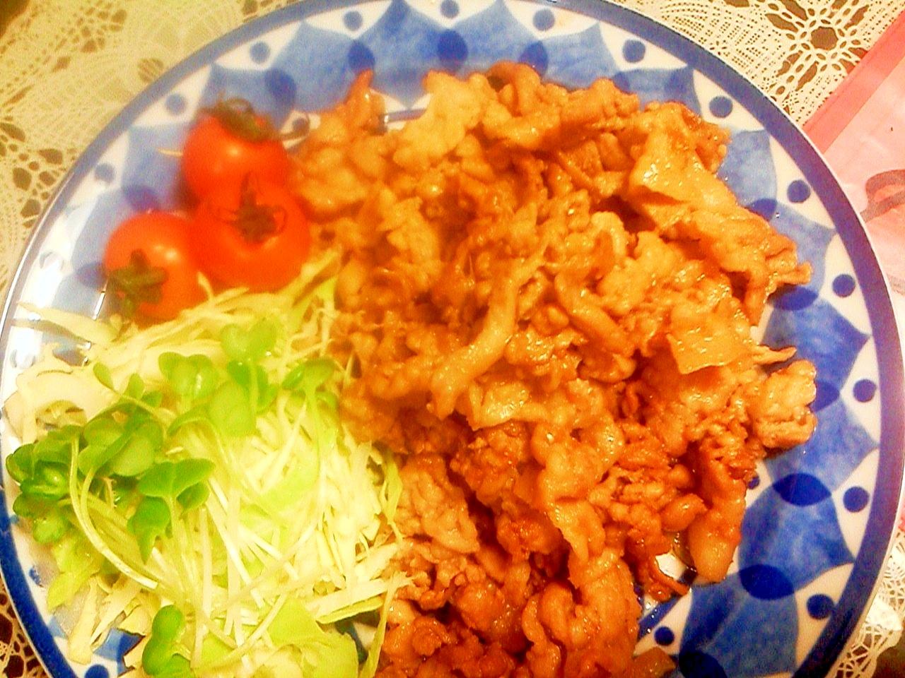 薄切り肉で柔らかく!豚の生姜焼き