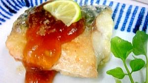 ノルウェー塩鯖 すだち風味のあんかけ