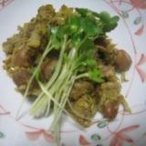 サバ缶とひよこ豆のカレー煮