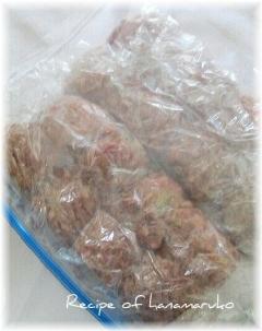 肉団子の作り置き・冷凍保存
