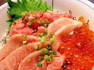 カマトロすき身&イクラ丼
