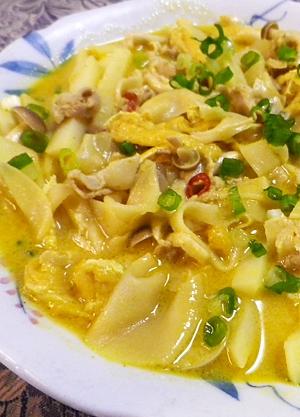 豚発酵竹の子のイエローカレー煮