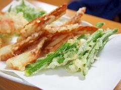 冷凍インゲンの天ぷら
