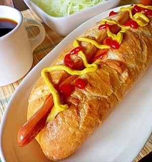 固ったいフランスパンだけどホットドッグが食べたい!