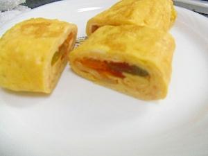 ラタトゥイユ巻き卵 ミ ゜Д゜彡