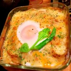 ごろごろ野菜たっぷり八丁味噌チキングラタン