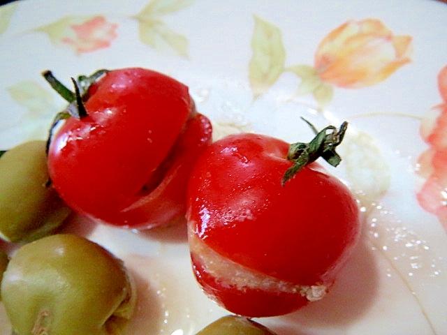 ミニトマトとアンチョビ