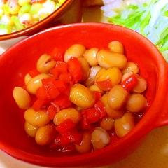おいなりの油揚げ煮汁リサイクルde簡単旨旨煮豆