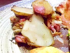菊芋で ジャーマンポテト
