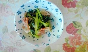 簡単!小松菜とベーコンのオイスターソース炒め