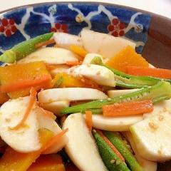 中華ハニーレモン風味☆いろいろ野菜とかぶのサラダ
