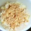 離乳食☆きな粉がけバナナミルクオートミール粥