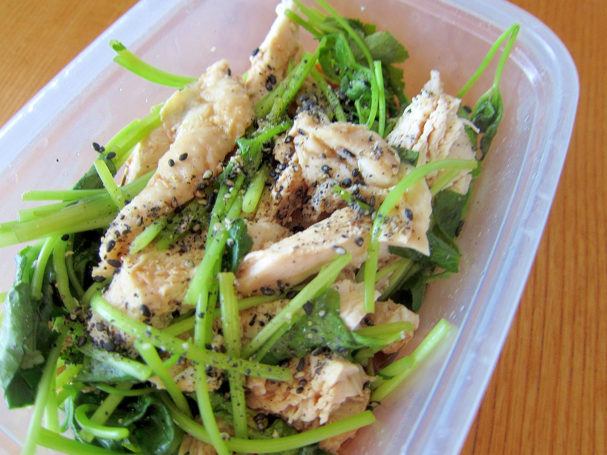 スチーム鶏肉三つ葉ポン酢漬けサラダ
