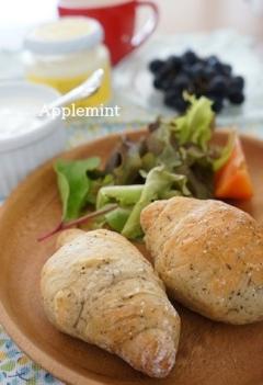 ミルクティー風味のロールパン(バター不使用)