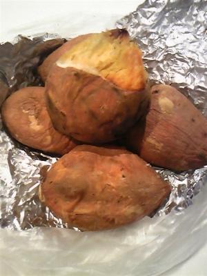 安納芋のオーブン焼き芋♪