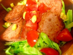 スパムの野菜サラダ
